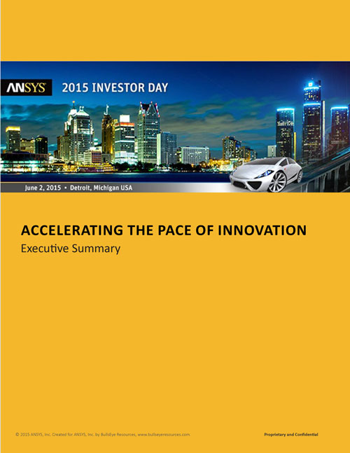 ANSYS 2015 Investor Day