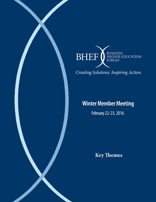BHEF 2016 Winter Meeting Key Themes