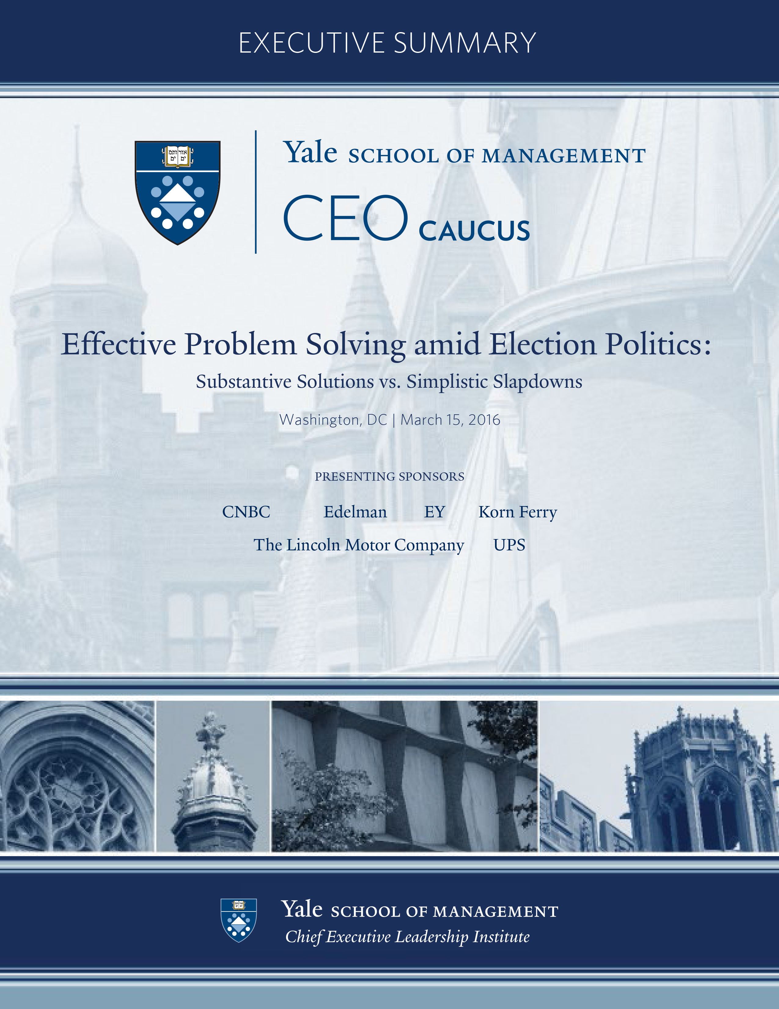 Yale School of Management CEO Caucus