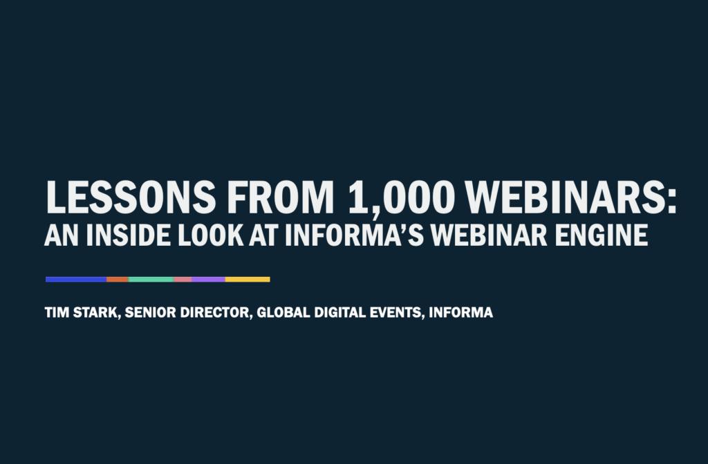 6 Lessons from 1,000+ webinars